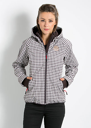 cosy rainstorm survival zip, fifties check